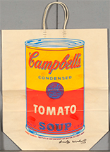 Campbells Soup Can on Shopping Bag
