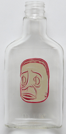 Untitled (Face bottle)